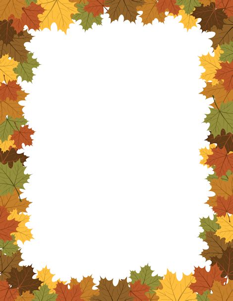 Printable Maple Leaf Border Free Gif Jpg Pdf And Png Downloads At Http Pageborders Org Leaf Border Template