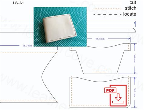 leather templates free leather wallet pattern pdf leathercove