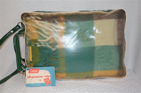 coleman picnic rug vintage coleman cing picnic or stadium wool blanket cing coleman cing and wool