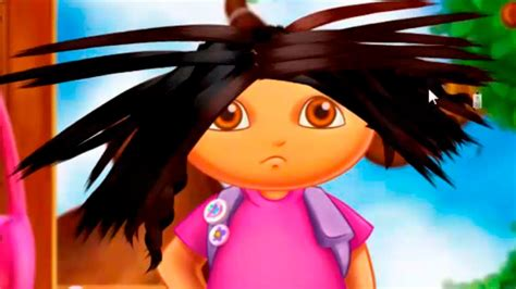 dora hairstyles games dora the explorer dora s real haircut dora online game