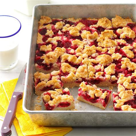 raspberry recipes raspberry patch crumb bars recipe taste of home