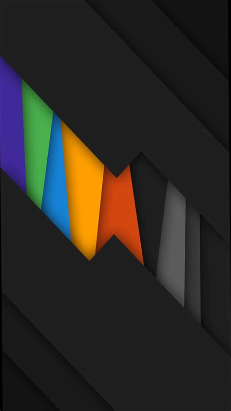 black rainbow colors abstract wallpapers cellphone