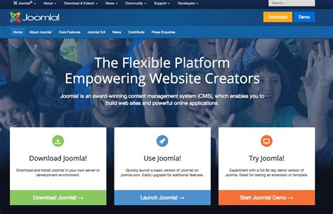 layout cms free joomla demo site 187 try joomla without installing it