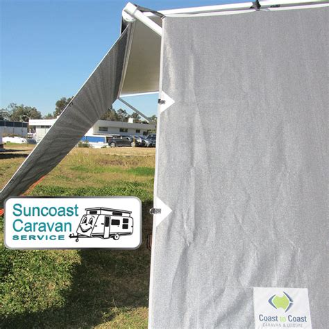 caravan awning side walls coast side sun privacy screen end wall for caravans