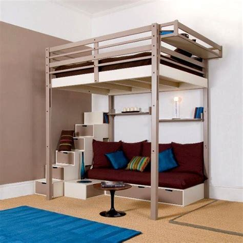 loft bed with couch loft beds with futon under brand furnitured