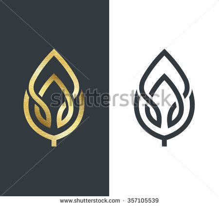 school logo stock images royalty free images vectors school logos jalevy designs vector leaf golden shape monochromatic one stock vector 357105539