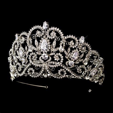 Princess Wedding Crown antique silver royal princess tiara bridal hair accessories