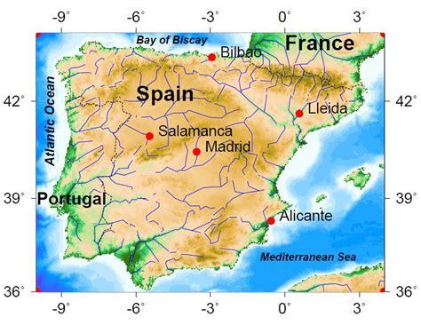 latitude map madrid latitude map