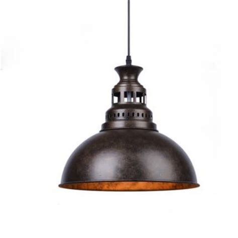 Nautical Light Fixtures Indoor Nautical Style 1 Light Metal Bowl Shade Led Pendant Indoor