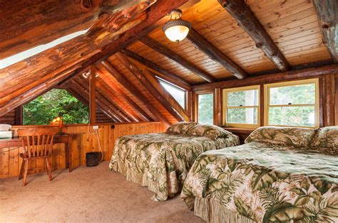 Loft Living Room log house retreat eve hogan