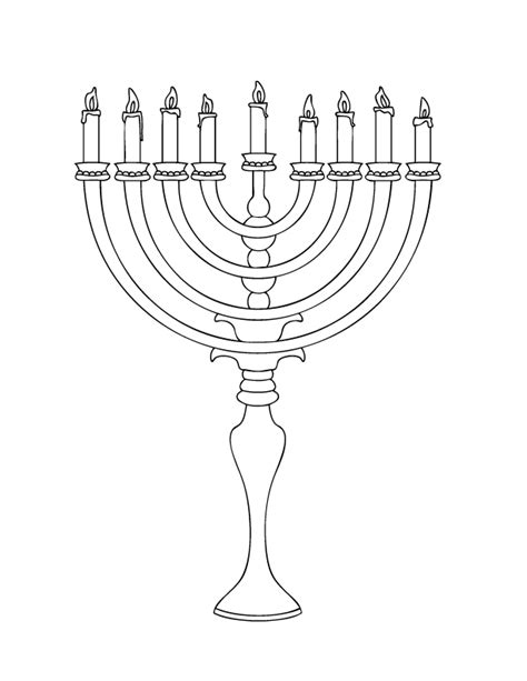 coloring page of menorah december holiday coloring pages make and takes