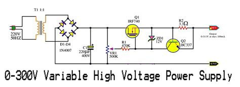 high c supply variable hv power supply schematic d c regulated power