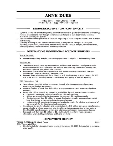 controller resume exle sle resume for financial controller http www