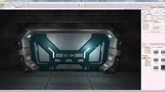 futuristic doors futuristic sci fi doors exported from blender to unity 3d hd youtube