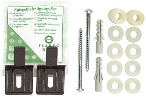 bathroom mirror fixings hib lluminated mirror fixing set 72004000
