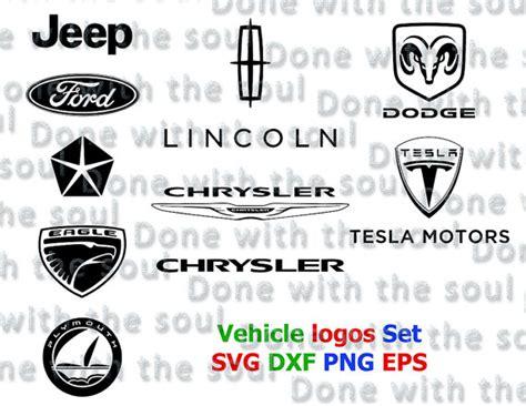 chrysler jeep logo vehicle logos set dodge logo vector car logo by