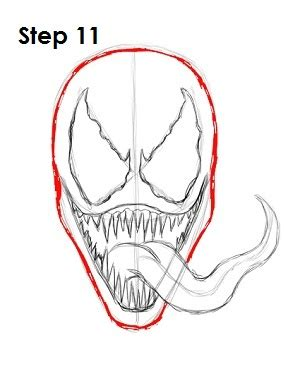 Drawing Venom by Venom Drawing Www Pixshark Images Galleries