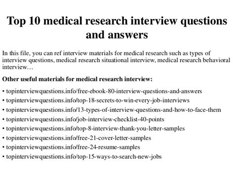 top 10 research questions and answers