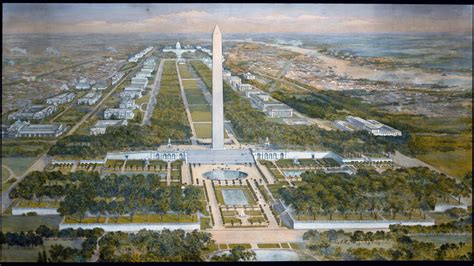 layout of the mall in washington dc national mall plan history