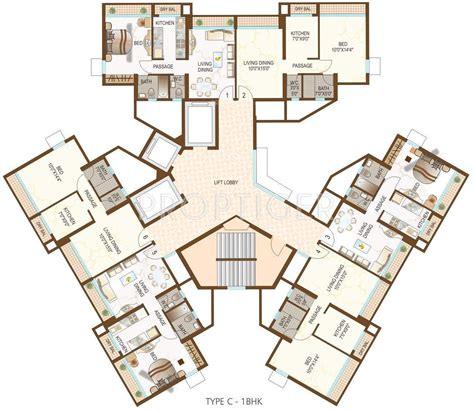 cluster house plans 710 sq ft 1 bhk 1t apartment for sale in dynamix group