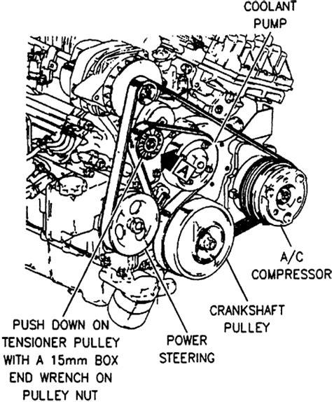 1998 buick park avenue timing chain replacement diagram repair guides engine mechanical components accessory drive belts autozone com