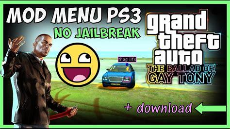 mod gta 5 no jailbreak gta iv tbogt mod menu ps3 no jailbreak gta 4 eflc