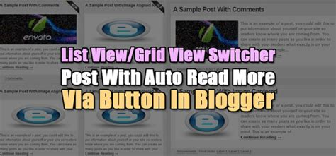 jquery mobile grid exle list view grid view switcher post with auto read more via