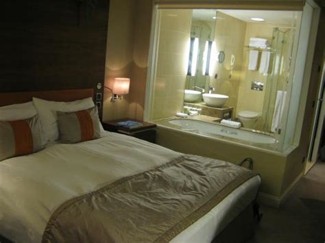 hotels with bathtub in bedroom our room with glass partition between bathroom and bedroom