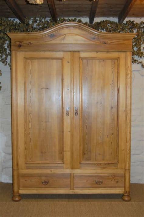 pine wardrobe armoire antique pine double wardrobe armoire 144013 sellingantiques co uk