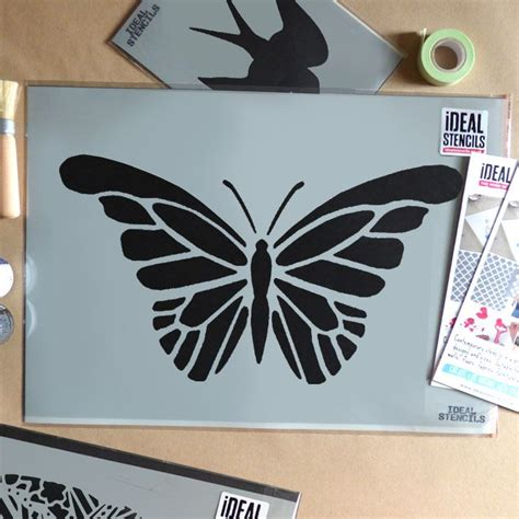 easy pattern stencil designs simple butterfly stencil ideal stencils