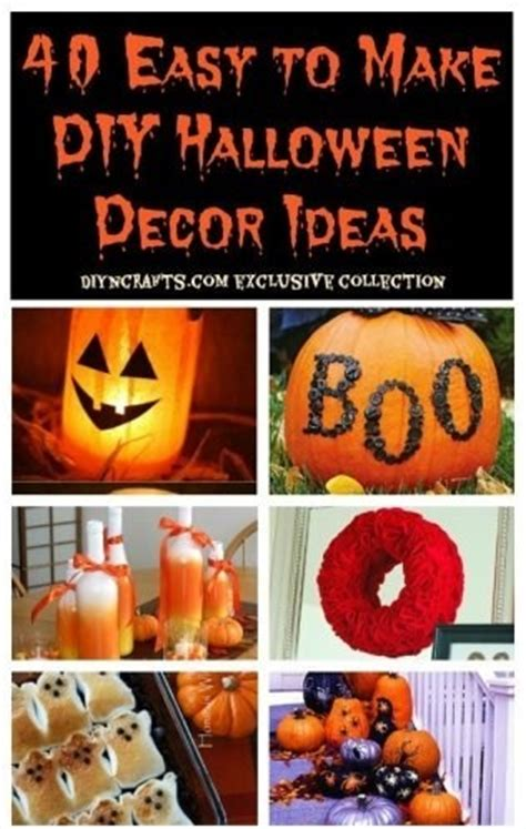 easy halloween decorations to make at home 40 easy to make diy halloween decor ideas