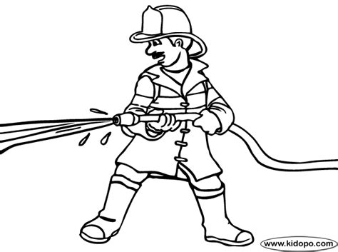 Fire Fighter Coloring Page Firefighter Coloring Page