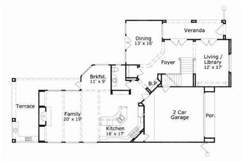 747 Floor Plan by Style House Plans Plan 19 747
