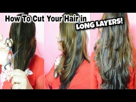 how to cut your own hair in v shape layers cut your own long layered haircuts at home haircuts for