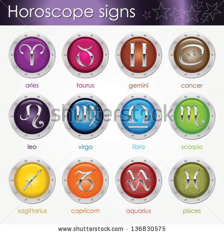 color horoscope zodiac symbols stock images royalty free images vectors