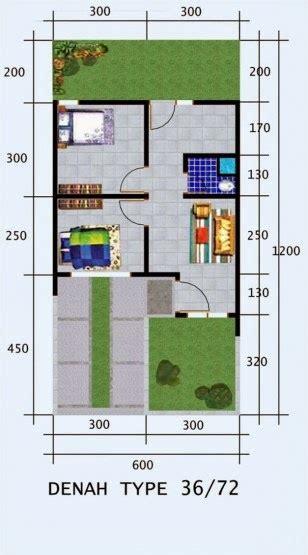 gambar denah rumah tipe  desain rumah