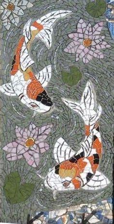 mosaic koi pattern butterfly koi fish precut stained glass art kit mosaic