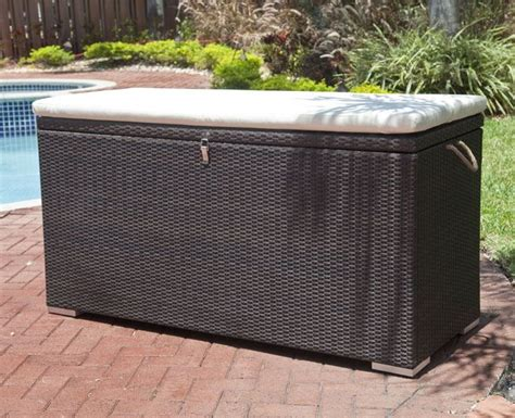 outdoor storage bench with cushion 25 best ideas about patio cushion storage on pinterest