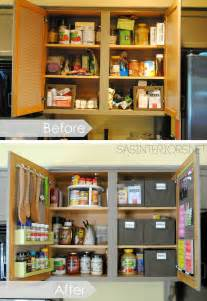Tips For Organizing Kitchen Cabinets Kitchen Organization Ideas For The Inside Of The Cabinet Doors Burger
