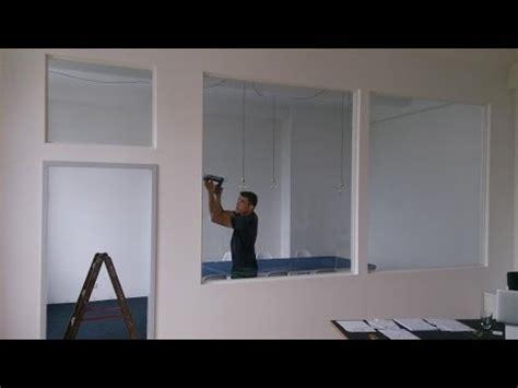 Sichtschutz Fenster Innen Zum Aufstellen by Bau Einer Trennwand Mit Glast 252 R Und Fenstern