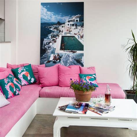 hot pink living room housetohome co uk palm springs living room living room idea housetohome