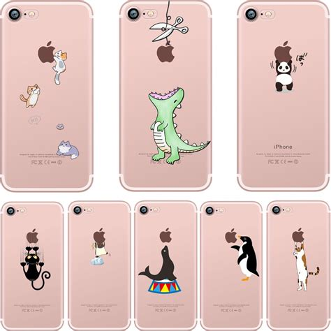 Iphone 6 Softcase Custom Cases Panda Best Seller aliexpress buy ciciber phone cases animals spoof crocodile cat panda penguin soft