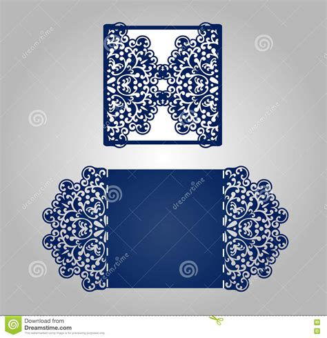 Square Laser Cut Invitation Template Stock Vector Image 77063006 Laser Cut L Template