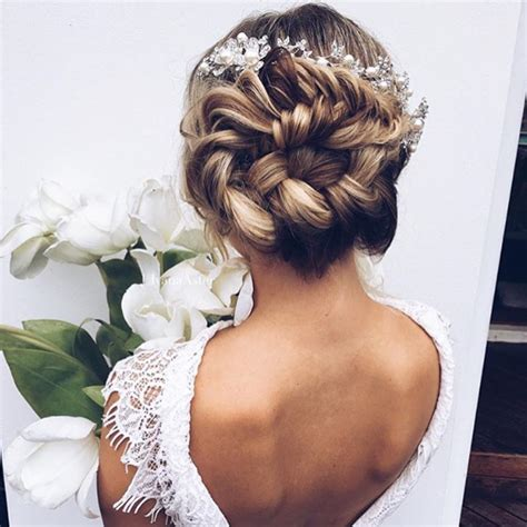 Wedding Hairstyles Up For Ceremony For Reception by Braided Bun Wedding Hairstyles Photos Brides