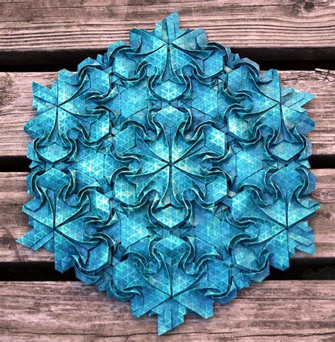Origami Tesselation - origami masks and tessellations by joel cooper colossal