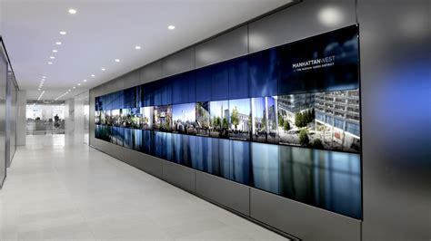media walls brookfield place media wall union design p g windows
