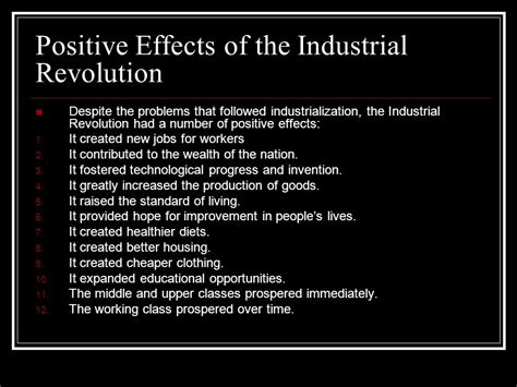 Positive And Negative Effects Of The Industrial Revolution Essay by The Industrial Revolution Chapter Nine Ppt