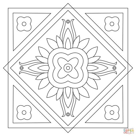 square mandala coloring pages simple square mandala coloring pages www pixshark