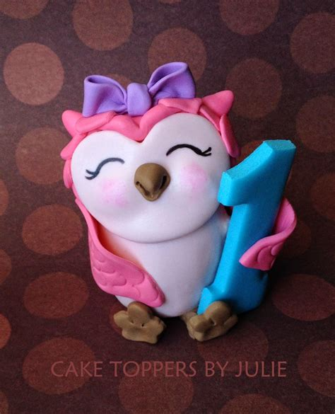 owl toppers custom cakes by julie march 2015