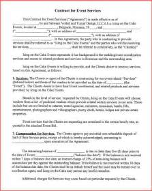 Event Management Agreement Template by Resume Business Template Event Planning Contract